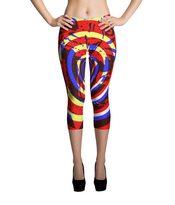 """Tiger Concentric"" Capri Leggings"