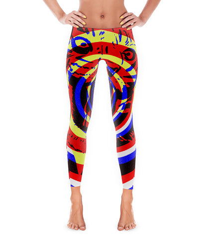 """Tiger Concentric"" Leggings"