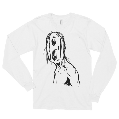 """Crooked Face"" Long Sleeve T-Shirt"