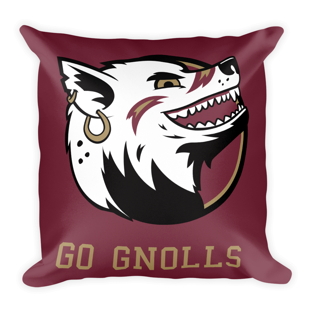 """Go Gnolls"" Square Pillow"