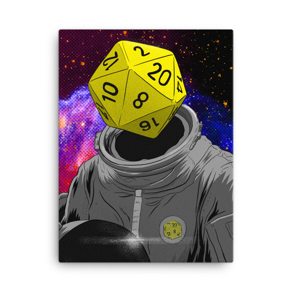 """d20 Astronaut"" Canvas"