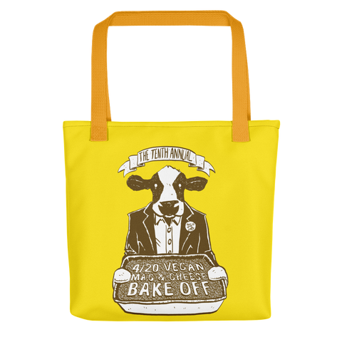 """4/20 Vegan Mac & Cheese Bake Off"" Tote bag"