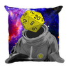 """d20 Astronaut"" Pillow (front)"