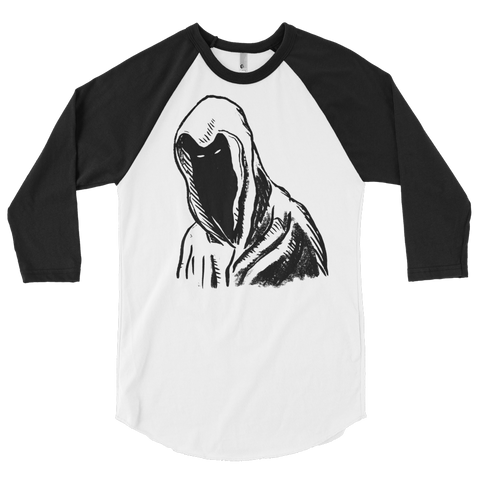 """Hooded Figure"" 3/4 Sleeve T-Shirt"