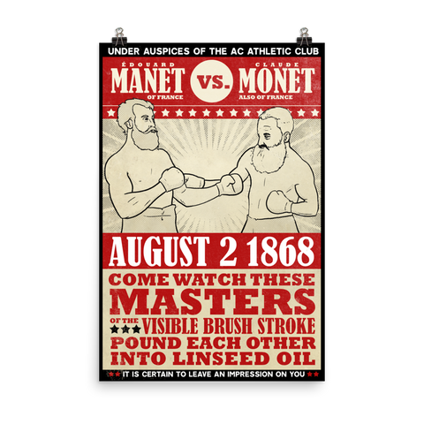 """Manet vs. Monet"" Vintage Boxing Poster"
