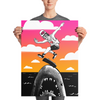 """Kickflip the Shark"" Poster"