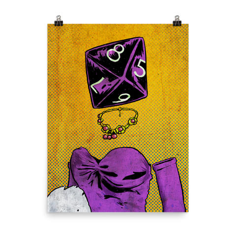 Roll Play Dice Heads Posters
