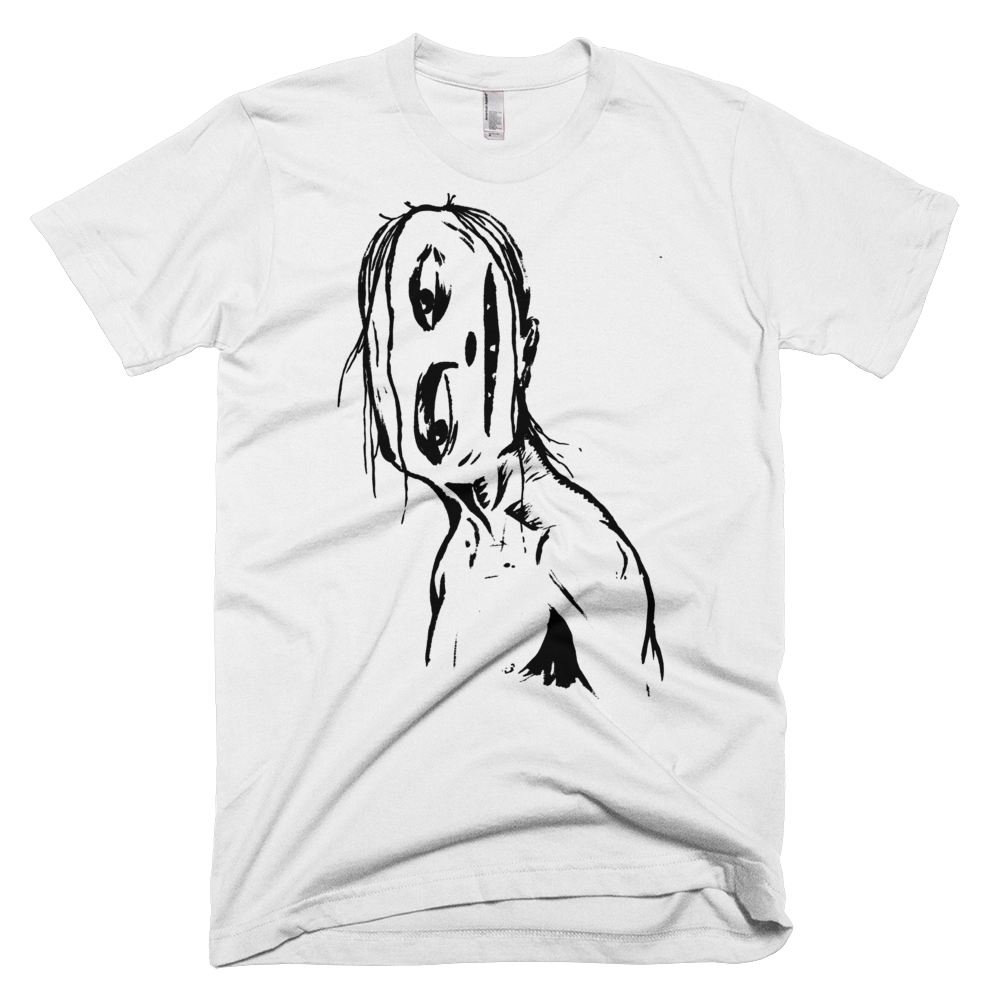 """Crooked Face"" Men's T-Shirt"