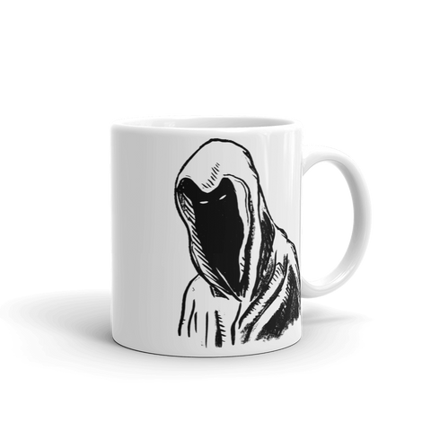 """Hooded Figure"" Mug"