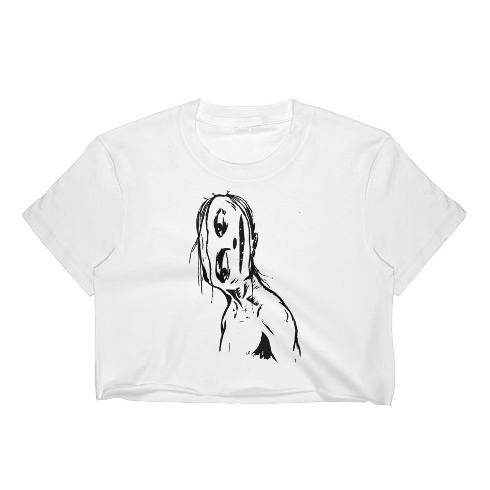 """Crooked Face"" Crop Top"