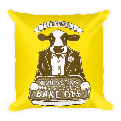 """4/20 Vegan Mac & Cheese Bake Off"" Pillow"