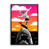 """Kickflip the Shark"" Framed Poster"