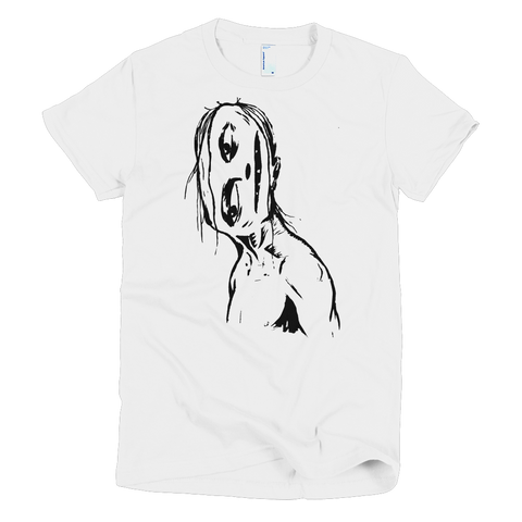 """Crooked Face"" Women's T-Shirt"