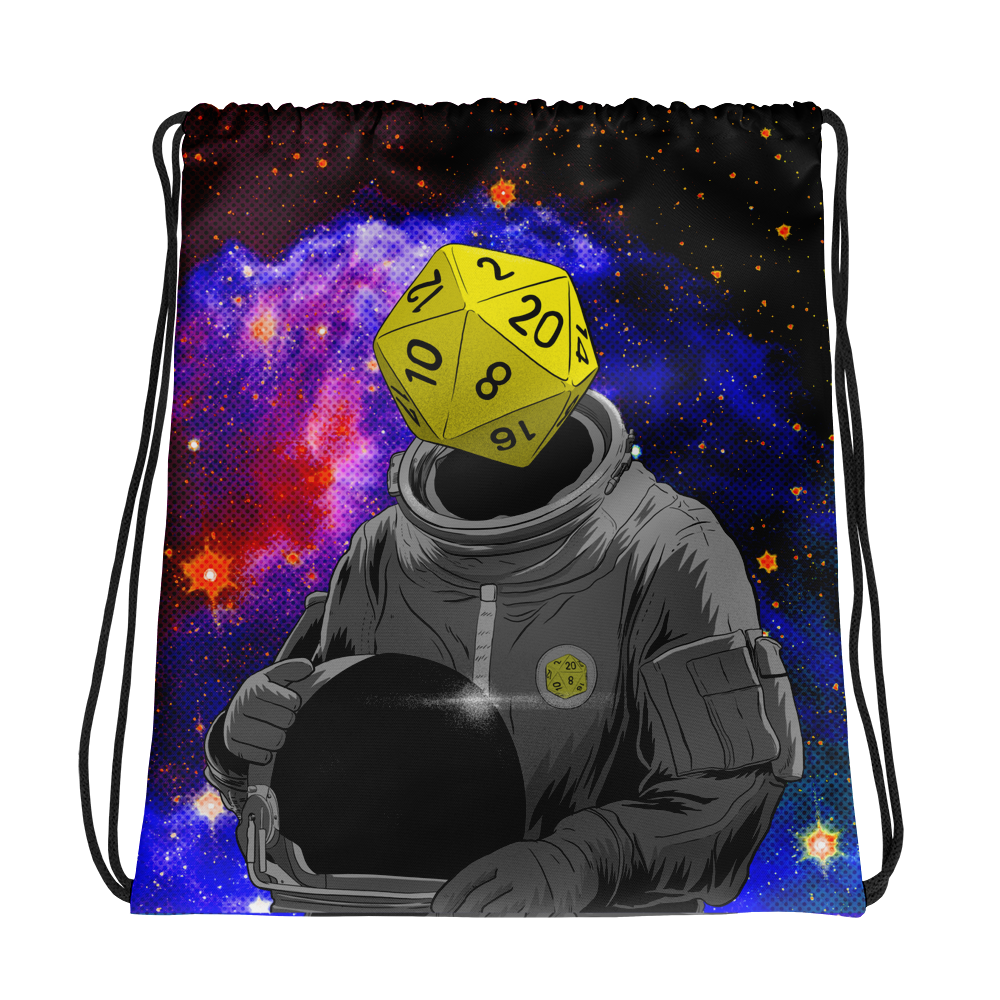 """d20 Astronaut"" Drawstring Bag"