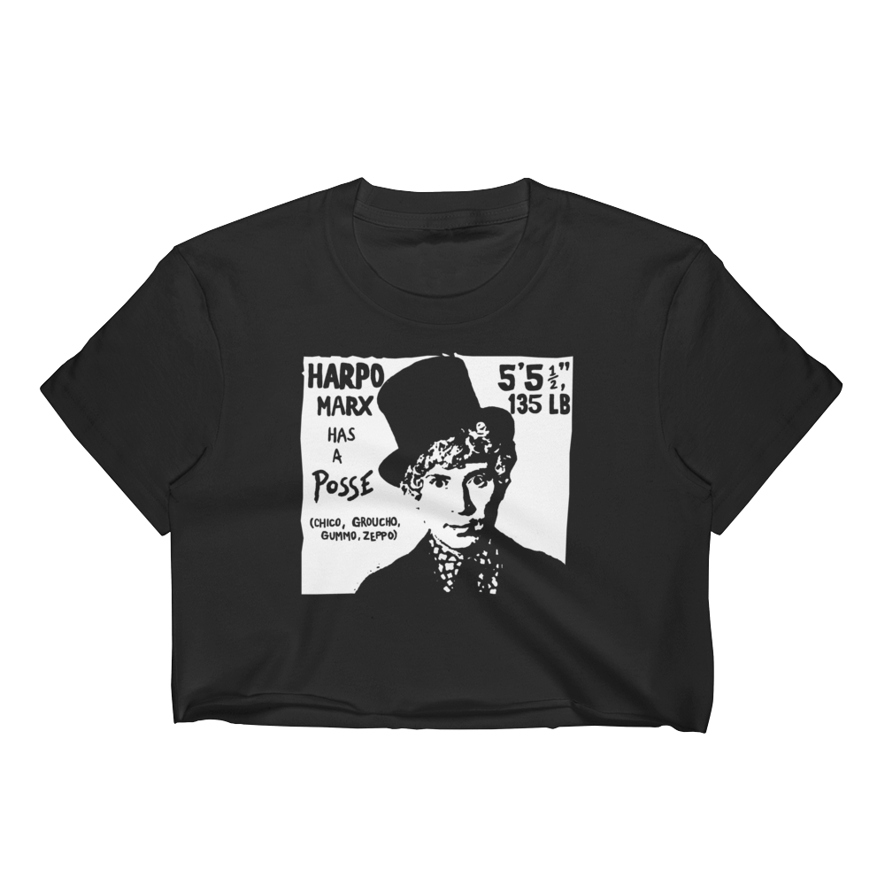 """Harpo Marx has a Posse"" Crop Top"