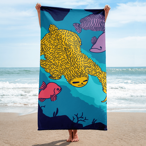 """Swimming Sloth"" Towel"