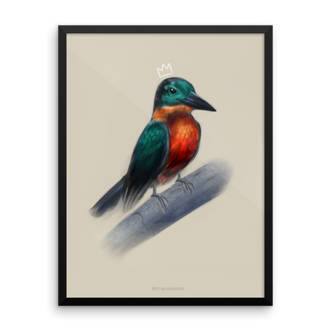 """Kingfisher"" Framed Poster"