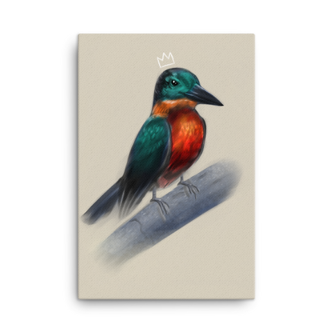 """Kingfisher"" Canvas"