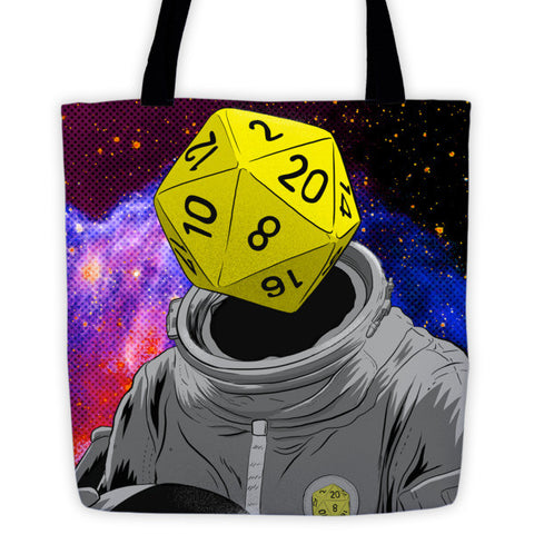 Roll Play Dice Portrait Tote Bags