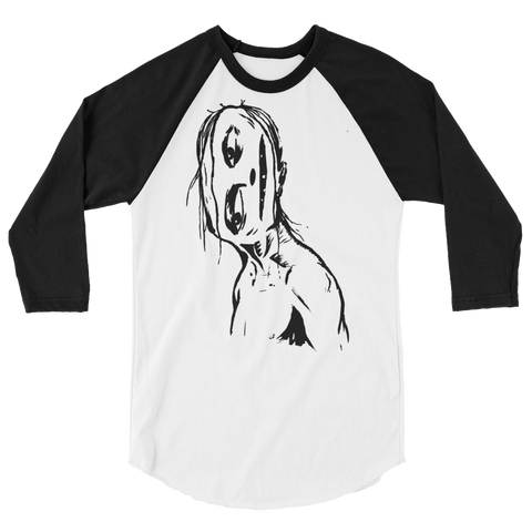 """Crooked Face"" 3/4 Sleeve T-Shirt"