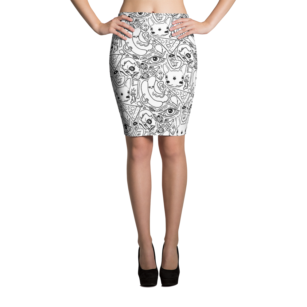 """Dice n' Slice"" Pencil Skirt"