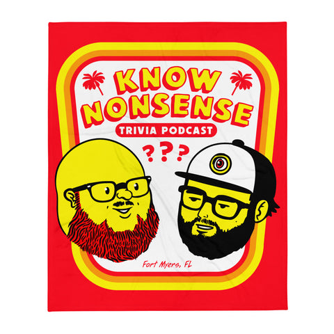 Know Nonsense Trivia Podcast Throw Blanket