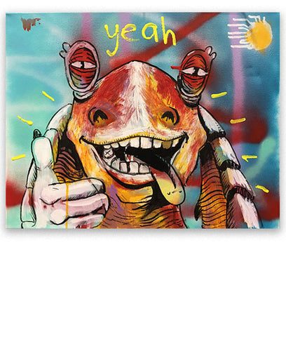 """Jar Jar Binks #09 (Sunshine)"" Painting"