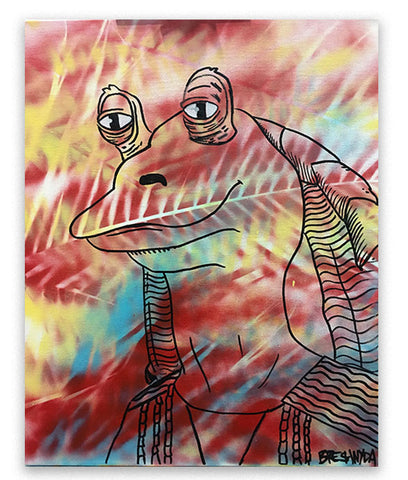 """Jar Jar Binks #12 (Chilled)"" Painting"