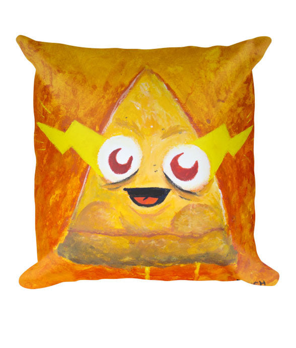 """Furious Pizza"" Pillow (back)"
