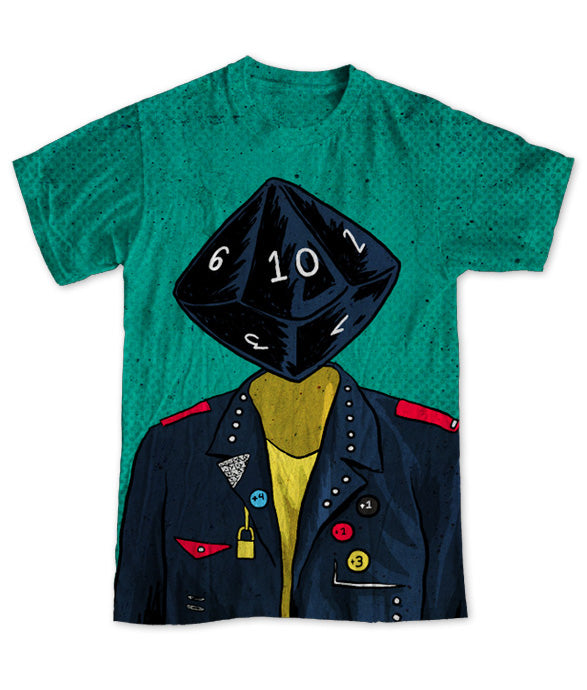"""d10 Punk"" Men's Allover Print T-Shirt"