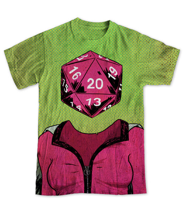 """d20"" Men's Allover Print T-Shirt"