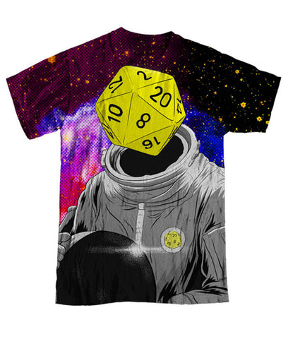"""d20 Astronaut"" Men's Allover Print T-Shirt"