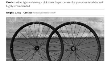 Road.cc 5/5 Review - HUNT 30 Carbon Gravel Disc Wheelset