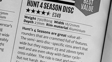 Cycling Plus 4.5/5 Best Value Award - MASON x HUNT 4 Season Disc Wheelset