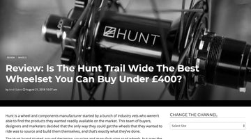 Singletrack Review - HUNT Trail Wide MTB Wheelset