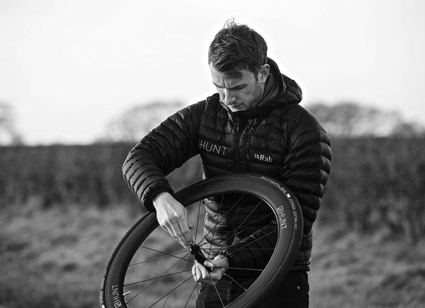 Tom Marchment inspecting HUNT wheel