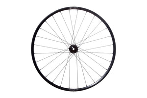 <h1>Rims</h1><i>Strong and light 6066-T6 (+34% tensile strength vs 6061-T6) heat-treated rim features an asymmetric shape which is inverted from front to rear to provide balanced higher spoke tensions meaning your spokes stay tight for longer. The profile is disc-specific, allowing higher-strength to weight as no reinforcement is required for a braking surface. The extra wide rim at 29mm (25mm int) creates a great tyre profile with wider 35c+ tyres, giving excellent grip and lower rolling resistance.</i>