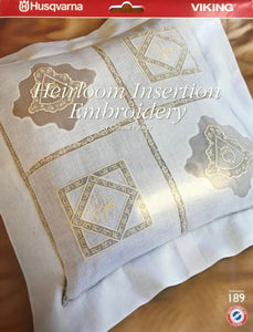 Husqvarna Viking EMBROIDERY CARD 189 Heirloom Insertion Embroidery
