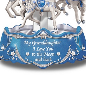 Granddaughter Love You To The Moon And Back Musical Carousel