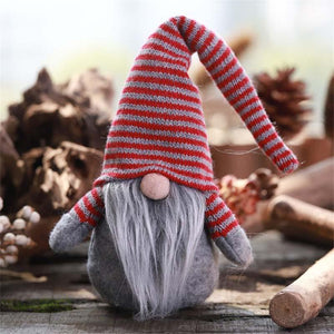 Christmas New Striped Hat Faceless Doll Ornaments