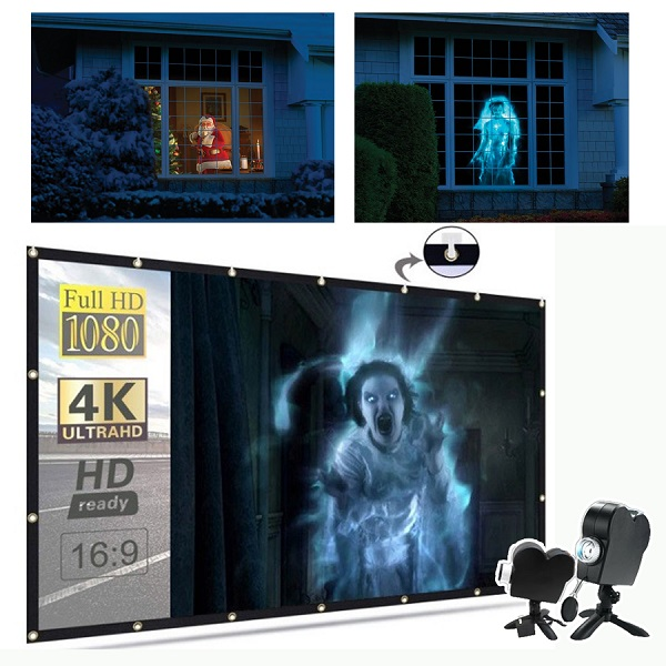 Halloween/CHRISTMAS Hot Sale-HAUNTED HALLOWEEN PROJECTOR