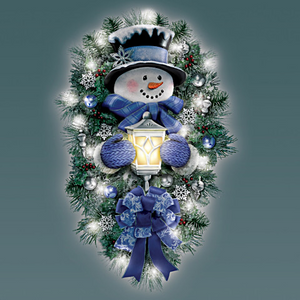 "🌲Only $19.99  🌲 ""A Warm Winter Welcome""Snowman  Wreath"