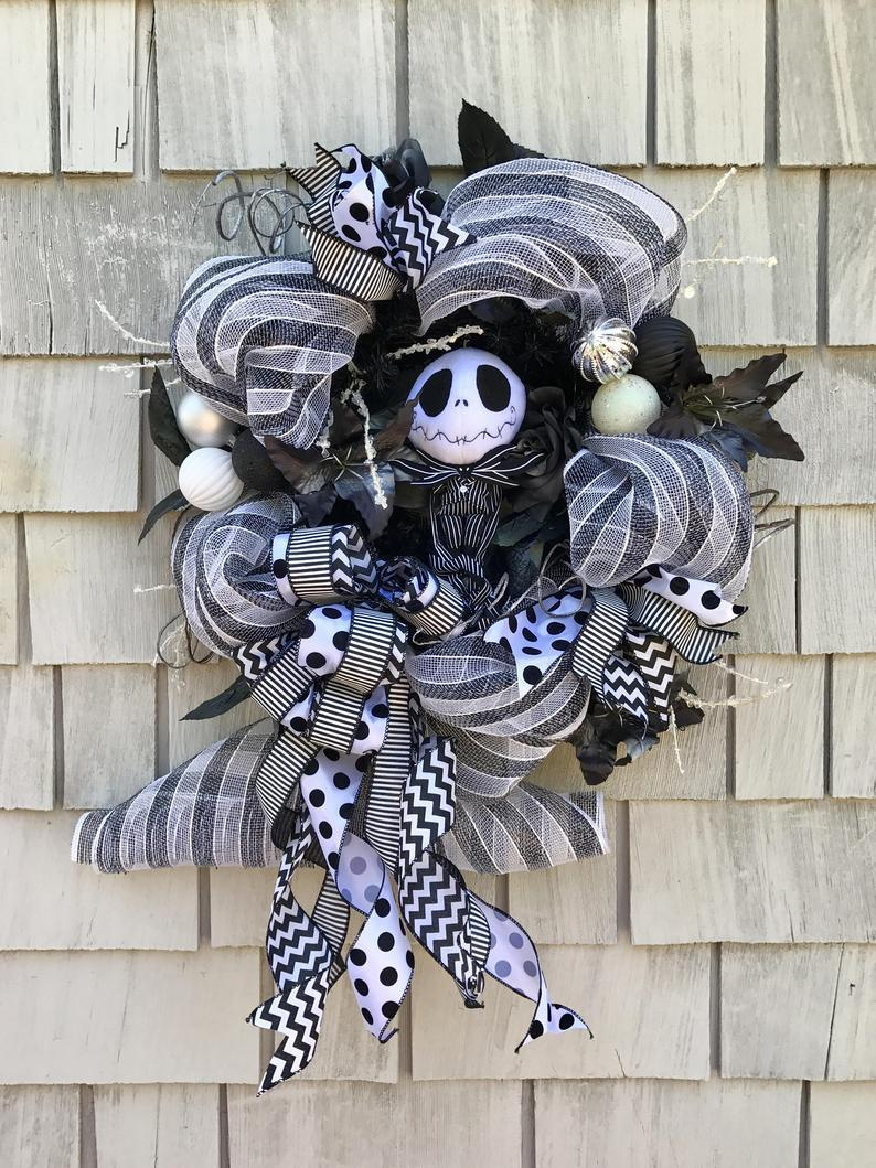 Nightmare Before Christmas Wreath Jack Skellington Wreath