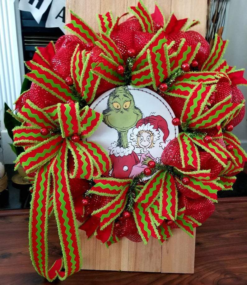 Grinch Christmas wreath