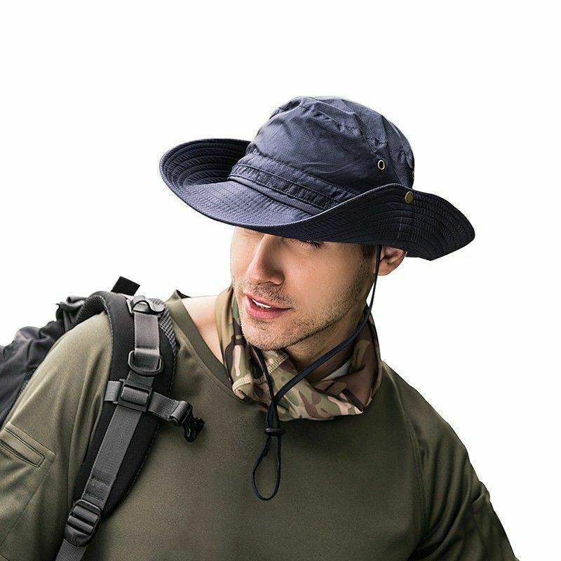 Bucket Hat Boonie Hunting Fishing Outdoor Cap Wide Brim Military Unisex Sun Hats