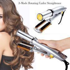 2-Way Rotating Curling Iron, Straightening, curling and styling hair perfectly