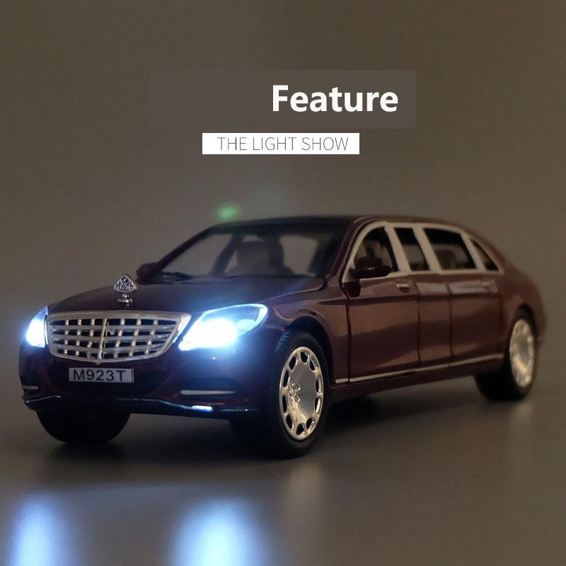 🔥HOT SALE 🔥1/24 Maybach S600 Diecast  Vehicles Alloy Metal Cars Models