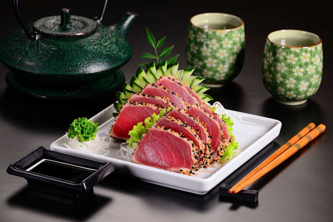 Seared Tuna Steak with Honey-Soy Sauce