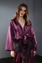 Load image into Gallery viewer, Purple Belted Kimono