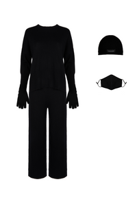 ECO: Black Round Neck Set